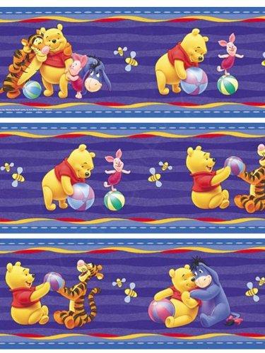 Originele Disney Winnie Pooh Puuh behang en tijger rand 5 m x 10,6 cm rand zelfklevend NIEUW ORIGINELE VERPAKKING