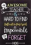Teacher Notebook: An Awesome Teacher Is ~ Journal...