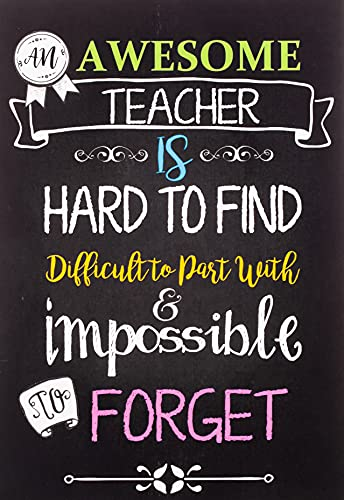 Teacher Notebook: An Awesome Teacher Is ~ Journal or Planner for Teacher Gift: Great for Teacher Appreciation/Thank You/Retirement/Year End Gift (Inspirational Notebooks for Teachers)