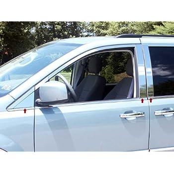 8 Pc: Stainless Steel Pillar Post Trim Kit, 4-Door, SUV PP47612 QAA FITS Edge 2007-2014 Ford