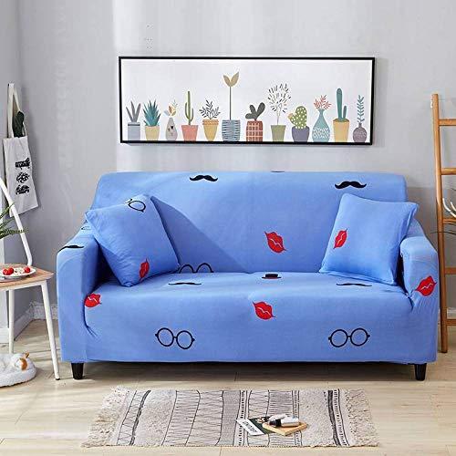 Funda de sofá Elastica,Funda de sofá con patrón estampado, funda de sofá elástica antideslizante, cojín de sofá universal para todas las estaciones, funda protectora de muebles de sala de estar-Color