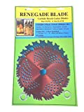 2pk--8'--20t/56t Combo Pack -- (1) 20 Teeth Blue Hawk (1) 56 Teeth red Razor -- 'Hybrid' Pack -- RENEGADE BLADE - GS1 Barcoded Shelf Hanging Blister Pack-- Carbide Brush Cutter Blades, 203mm Dia.