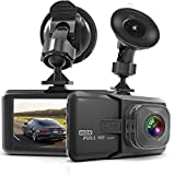 Dashcam dh01, Full HD 1080P Dashcam Autokamera Video Recorder mit 170° Weitwinkelobjektiv, 3 Zoll...