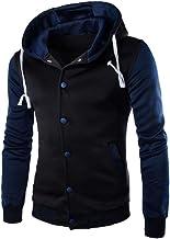 CHILLY LOOKATOOL Men Coat Jacket Outwear Sweater Winter Slim Hoodie Warm Hooded Sweatshirt