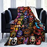 Griffiths Blanket FNAF Throw Blanket Five Nights Bear Flannel Ultra-Soft Micro Fleece Blanket for Bedding, Couch, Sofa, Bed, Warm Throw Blanket for Kids Room 50'X40'