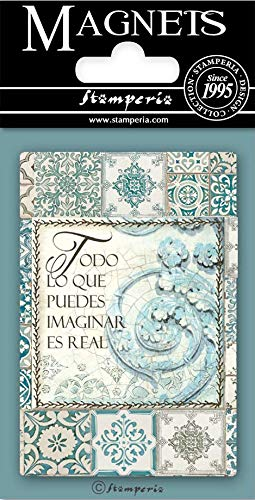 STAMPERIA INTERNATIONAL, KFT ESCRITORIOS IMÁN ESTAMPERIA, Escritos, Azulejos, talla única