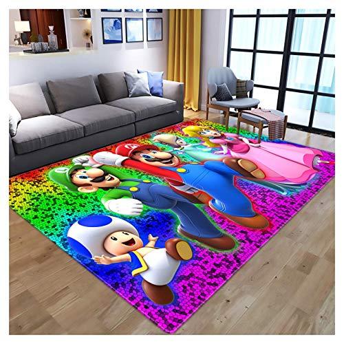 Alfombra de patrón de dibujos animados 3D, Aparamina de la colchoneta de la sala de niños antideslizante, la colchoneta de la cama de la cama del dormitorio, para la mesa de centro para el hogar, B, 1