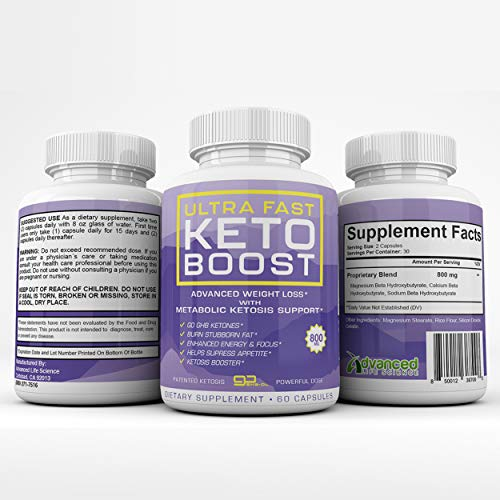 Ultra Fast Keto Boost - Advanced Weight Loss with Metabolic Ketosis Support - 800MG - 60 Capsules - 30 Day Supply 2