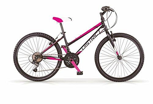 Mountain Bike MBM District de mujer, estructura de acero, horquilla delantera suave, cambio Shimano, 2colores disponibles
