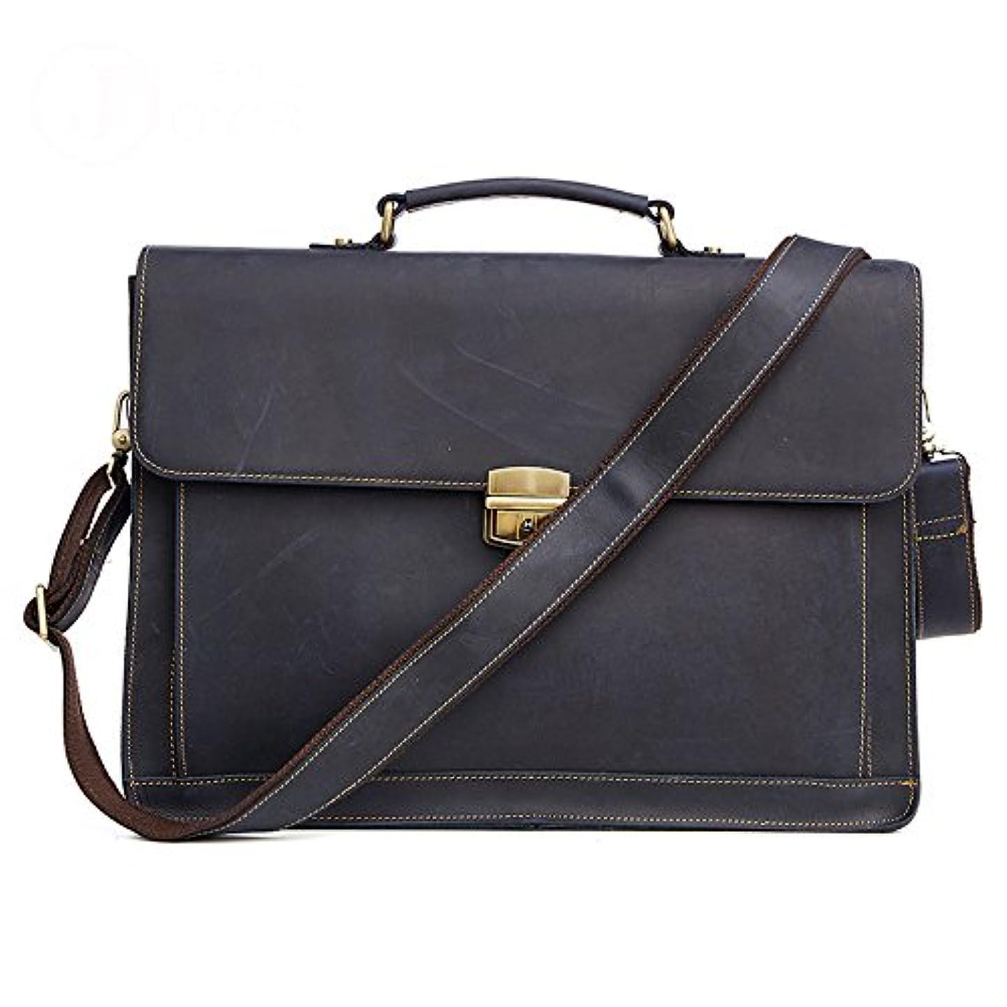 FGEFG Women Men's Leather 15.6 Inch Laptop Briefcase Bag Messenger Shoulder Satchel Casual Tote Crossbody Handbag (Color : Dark Blue) xsjwbmclblk8