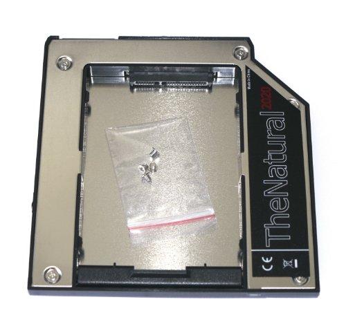 HDD/SSD Ultrabay Slim Module für Lenovo ThinkPad T400, T400s, T410, T410i, T410s, T420s, T420si, T430s, T430si, T500, W500, X200, X220, X220s, X220T, X230T - Festplattenrahmen Adapter Caddy 9.5 mm SATA auf SATA - TheNatural2020