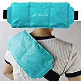 Pain Relief Flexible Ice Pack for Injuries Hot & Cold Therapy Reusable Gel Pack/Heat Wrap - Great for Back, Waist, Shoulder, Neck, Ankle, Knee and Hip (Teal)
