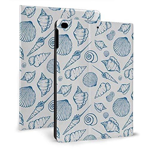 HleHjum Schutzhülle für iPad (24,6 cm / 9,7 Zoll), Design The Sea Concept mit Muscheln