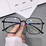 DMAIP Trend Office Anti-Blu-Ray Occhiali Oversize Computer Donna Blu Blocco Gioco Occhiali da Vista da Uomo di Grandi Dimensioni