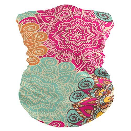 PINLLG kleurrijke Mandala Indiase stijl Bohemia gezichtsmasker Bandana wasbare hoofdband voor stofsport Magic sjaal hals Gaiter mannen vrouwen