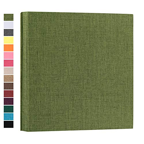 potricher Photo Album for 4x6 1000 Photos Linen Cover Extra Large Capacity Photo Book for Family Wedding Anniversary Baby (Green, 1000 Pockets)