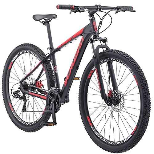 אופני הרים של שווין בונאפייד Mens, מתלה קדמי, 24 הילוכים, גלגלים 29 אינץ ', מסגרת אלומיניום 17 אינץ', שחור שחור / אדום מט