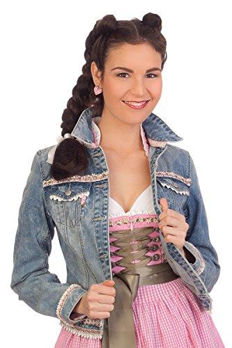 Krüger Dirndl Damen Trachten Jeansjacke - Brooke - Jeansblau, Größe 30
