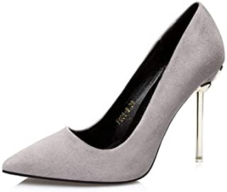KTYXDE High-Heeled Shoes Women's High-Quality Materials Simple Fashion Elegant High Heels Single Shoes High Heels Spring and Summer 10CM 4 Colors Women's Shoes