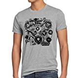 style3 Tubo Vintage Camiseta para Hombre T-Shirt v8 Motor Sound, Talla:M;Color:Gris Brezo