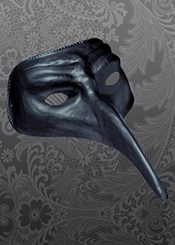 Struts Fancy Dress Halloween Black Mask de Style médecin de peste