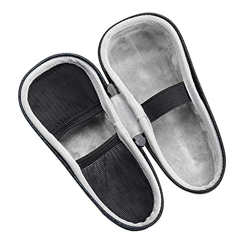 Qiuxiaoaa Shaver Case Portable Travel EVA Storage Bag for Razor Trimmer Shaver Bag Black