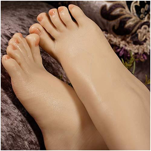 BULK Silikon weiblicher Fuß Mannequin Lebensgröße Fuß Mannequin Anzeige Sandale Schuh Socke Anzeige Kunstskizze Fuß Spielzeuge,Skeletal,Leftfoot