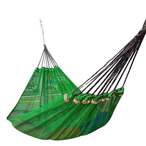Cama colgante de seda de hielo con hamaca individual, asiento giratorio portátil liviano, capacidad de carga de hasta 250 kg hamaca para exteriores para acampar en el patio del jardín