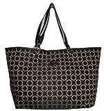 Tommy Hilfiger Women's Tote Handbag, Large, Black