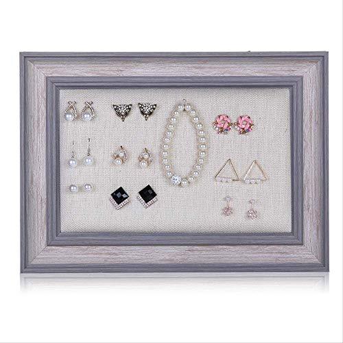 SUPERHUA Organizer da appendere per gioielli, con cornice portafoto e espositore per gioielli, per orecchini, collane, orecchini e orecchini