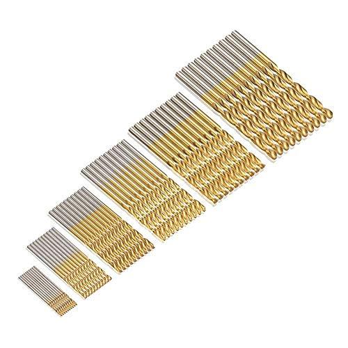 JTENG 60 uds. Set Taladro Micro 1/1,5/2 / 2,5/3 / 3,5 mm de titanio de alta...