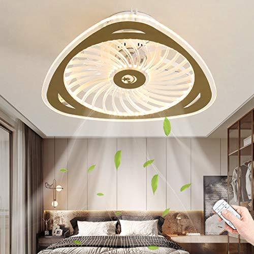 Ventilador De Techo LED Iluminación Control Remoto Ventilador Regulable Luz De Techo Moderna Fan Velocidad Del Viento Ajustable Lámpara De Techo Dormitorio Sala De Estar Comedor Lámparas De Araña (B)