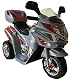 Toyas Kindermotorrad Elektromotorrad Kinder Polizei Motorrad Musik Sound in Grau NEU