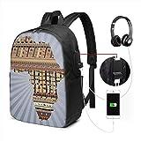 Mochila con Interfaz USB USB Backpack Skateboard 012 Bookbag for Trip School 17In