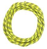 高強度ロープ 太さ: 10.5mm 長さ: 10m 収納袋セット アウトドア キャンプ 登山補助ロープ (黄 10.5mm x 10m フック無し)