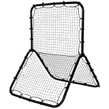 GOFLAME Pitch Back with Baseball Softball Soccer Trainer Rebounder Muti-Sport Return Trainer Baseball Hitting...