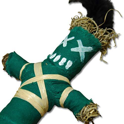 Wanga Doll Green - Authentische Voodoo Puppe mit Nadel und Ritualanleitung - Glückszauber - Glück und Erfolg