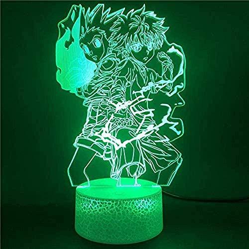 XLLQYY 3D LED luces de la noche anime mi héroe Academia Bakugou Katsuki Naruto figura de acción niños juguetes colorido reloj base mesa luz China teléfono inteligente control 08