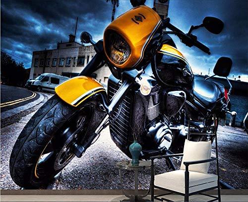 Papel Tapiz Moderno Minimalista Tv Pared De Fondo Vintage Motocicleta Mural Tv...