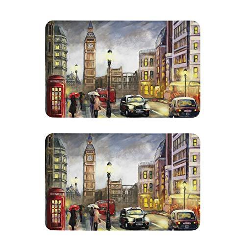 Imanes de nevera Pintura al óleo Street London Funny Nevera Art Imanes decorativos tag1 2 unids