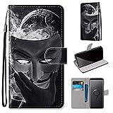 Miagon Flip PU Leder Schutzhülle für Samsung Galaxy S9,Bunt Muster Hülle Brieftasche Case Cover Ständer mit Kartenfächer Trageschlaufe,Maske