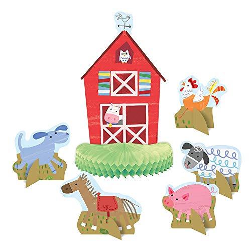 Unique Party 72460 - Farm Party Table Decorations, Set of 6