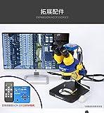 XUSHEN-HU Mechanic MC75T-L2 Microscopio estéreo trinocular 7X-45X de duplicación continua de reparación de teléfonos móviles, herramientas de microscopio de nivel industrial (color: paquete 2)