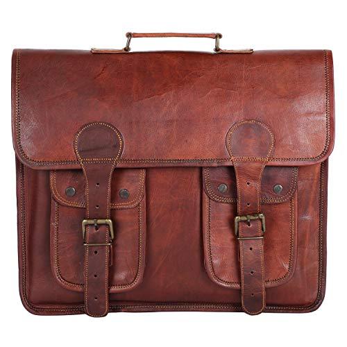 GNG - Cartella in pelle per laptop Borsa da 16 pollici Borse a tracolla fatte a mano Miglior portafoglio