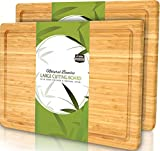 Utopia Kitchen (Pack of 2) Extra Large Bamboo Cutting Board with Juice Groove - Kitchen Chopping...