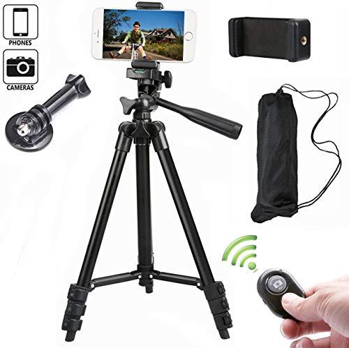 pas cher un bon Trépied d'appareil photo portable pour iPhone avec support et télécommande Bluetooth Trépied…