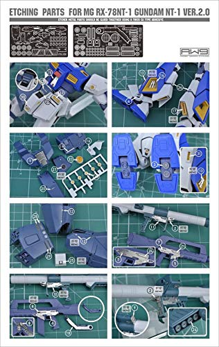 Madworks S12 Detail Up Metal Parts Photo-Etch Upgrade for NT-1 Gundam Alex MG 1/100
