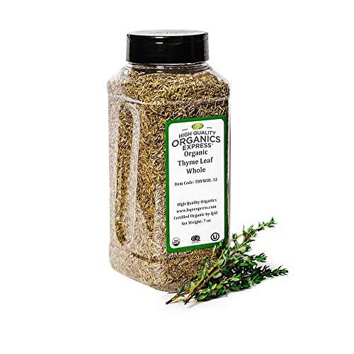 HQOExpress | Organic Thyme Leaf | 7 oz. Chef Jar