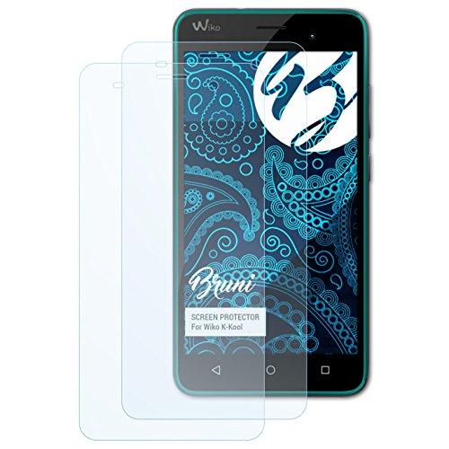 Bruni Schutzfolie kompatibel mit Wiko K-Kool Folie, glasklare Bildschirmschutzfolie (2X)