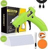 AONOKOY Cordless Hot Glue Gun, USB Rechargeable 30-Watts Mini Glue Gun Kit with 30pcs Glue Sticks, Melt Glue Gun for DIY Small Projects, Arts and Crafts, Home Quick Repairs, Festival Decoration